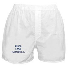 Peace, Love, Marsupials Boxer Shorts