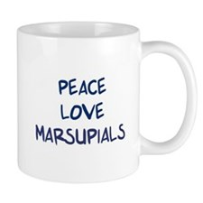 Peace, Love, Marsupials Mug