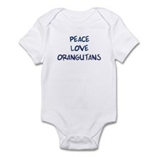 Peace, Love, Orangutans Infant Bodysuit