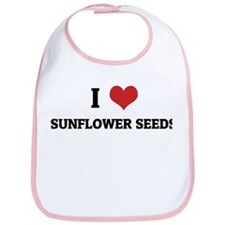 I Love Sunflower Seeds Bib