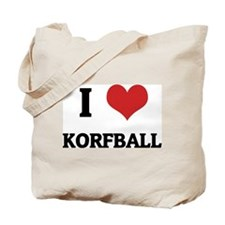I Love Korfball Tote Bag