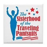 The Sisterhood of the Traveli Tile Coaster