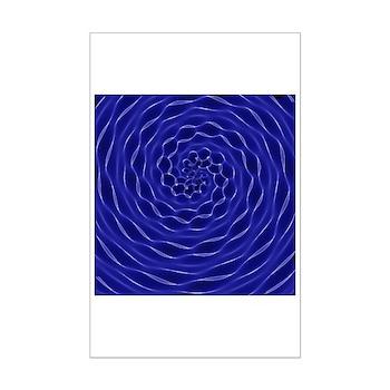 Blue Swirly Mini Poster Print