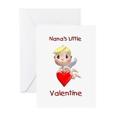 Nana's Little Valentine (angel) Greeting Card