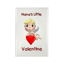 Nana's Little Valentine (angel) Rectangle Magnet