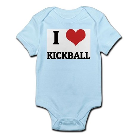 I Love Kickball Infant Creeper