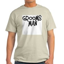 Hipster Groomsman: Coal Ash Grey T-Shirt