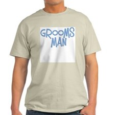 Hipster Groomsman: Blue Ash Grey T-Shirt