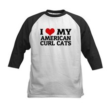 I Love My American Curl Cats Tee