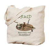 Druid - Beware the Squirrels Tote Bag