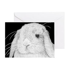 Lop Rabbit Greeting Card