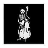 Upright Bass Skeleton Tile Coaster