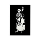 Upright Bass Skeleton Rectangle Magnet (100 pack)