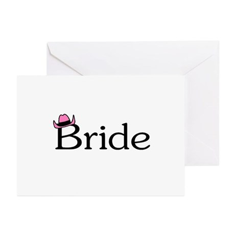 Bride (Heart) Greeting Cards (Pk of 10)