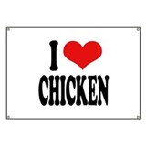 I Love Chicken Banner