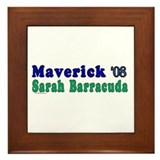 Maverick & Sarah Barracuda Framed Tile