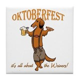LH Oktoberfest Dachshund Tile Coaster