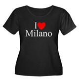 """I Love (Heart) Milano"" Women's Plus Size Scoop Ne"