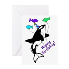 Orca Birthday Greeting Card