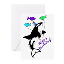 Orca Birthday Greeting Cards (Pk of 10)