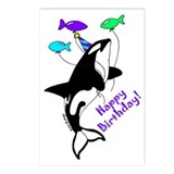 Orca Birthday Postcards (Package of 8)