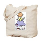 I Love to Knit! Tote Bag