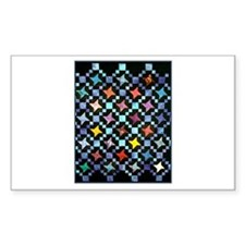 Fabric Crafts - Colorful Hand Rectangle Sticker 5