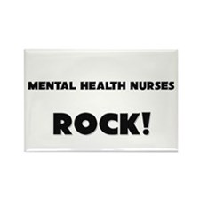 Mental Health Nurses ROCK Rectangle Magnet (10 pac