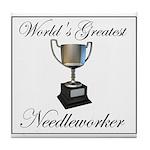 World's Greatest Needleworker Tile Coaster