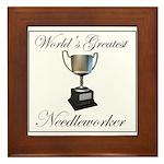 World's Greatest Needleworker Framed Tile
