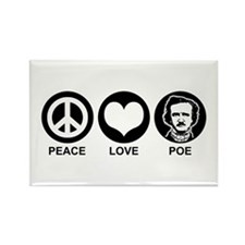 Peace Love Poe Rectangle Magnet