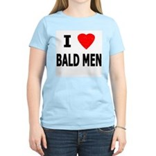 I Love Bald Men Women's Pink T-Shirt
