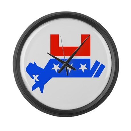 DEAD DEMOCRAT DONKEY Large Wall Clock