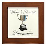 World's Greatest Lacemaker Framed Tile
