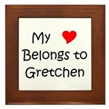 Cute Gretchen Framed Tile