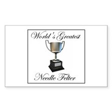 World's Greatest Needle Felte Rectangle Sticker 5