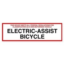 Federal Regulations - Electric Assist Bicycle