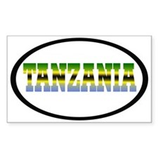 Tanzania Rectangle Sticker 50 pk)