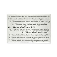 The Ten Commandments Rectangle Magnet (100 pack)