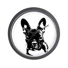 Cute French bulldog lover Wall Clock