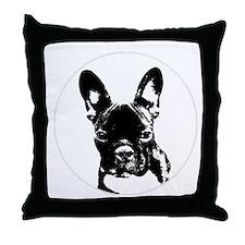 Cute French bulldog lover Throw Pillow