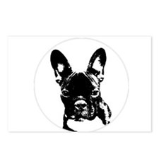 Cute French bulldog lovers Postcards (Package of 8)