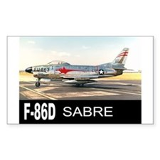 F-86 SABRE INTERCEPTOR Rectangle Decal