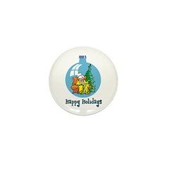 Stocking Knitter - Happy Holi Mini Button (10 pack
