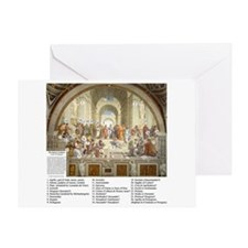 School of Athens Who's Who Greeting Card