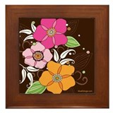 Bubblegum Blooms Framed Tile