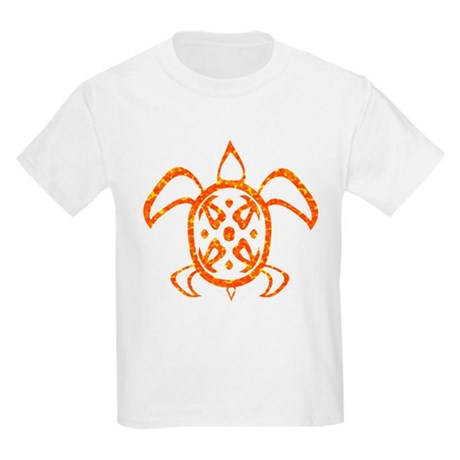 Orange Sea Turtle Kids Light T-Shirt