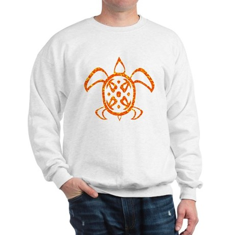 Orange Sea Turtle Sweatshirt