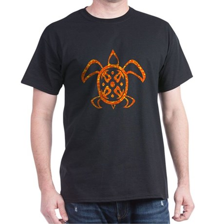 Orange Sea Turtle Dark T-Shirt