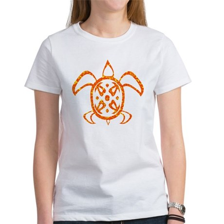 Orange Sea Turtle Women's T-Shirt
